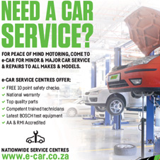 car service at all e CAR workshops