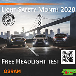 osram light safety month e car workshops country wide