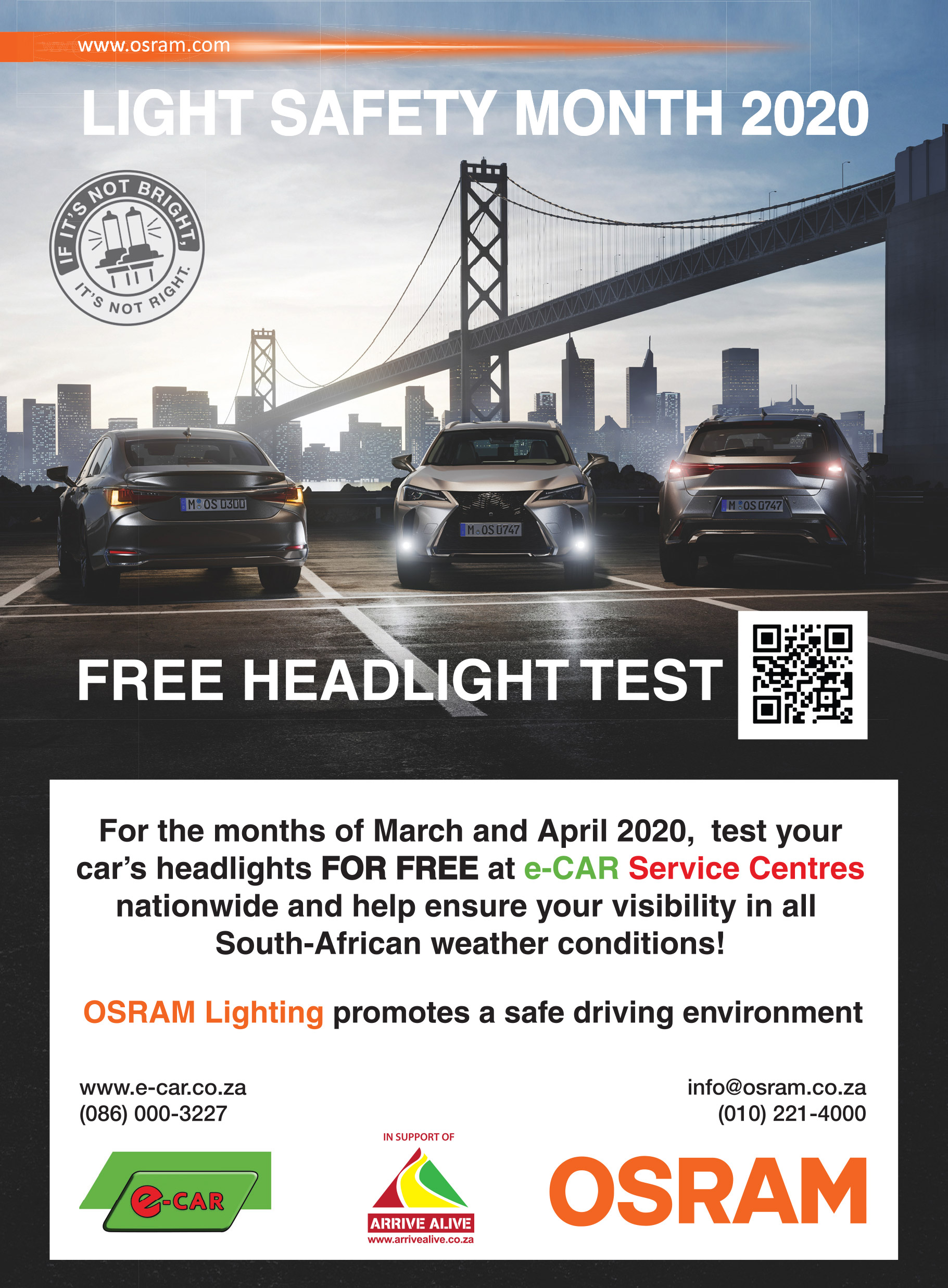 osram light safety month e car workshops nationwide