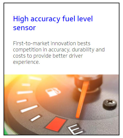 delphi high accuracy fuel level sensor e car